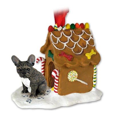 French Bulldog Gingerbread House Ornament