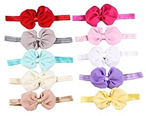 Qandsweet Baby Girl Headbands with Hair Flower Accessories