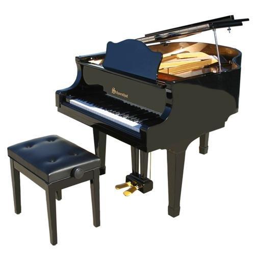 Schoenhut 49 Key Pro Baby Grand Piano - Black