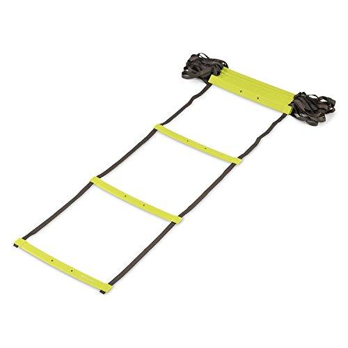 CAPITAL SPORTS Klarstride Scaletta Fitness Agilty Ladder Per Esercizi Cardio (8 metri, 17 Pioli Piatti in Pastica, 16 Campi dŽazione)