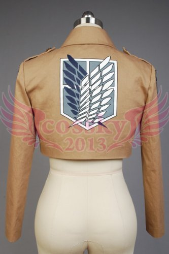 【COSSKY2013】進撃の巨人 attack on titan 調査兵団 リヴァイ兵長 ジャケット コート 紋章 刺繍 コスプレ衣装 XS-XXLサイズ