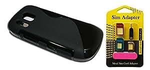 Free Metal Sim Adaptor With Wellmart Anti-Skid Soft TPU Back Case Cover for Nokia Asha 202