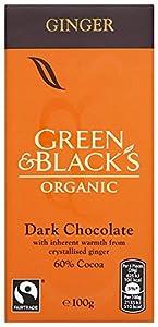 Green and Black's Organic Ginger Dark 100 g (Pack of 5)