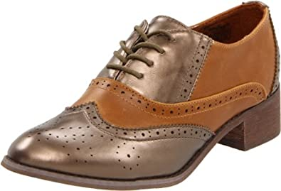 Wanted Shoes Women's Graham Oxford,Bronze/Tan,5.5 M US