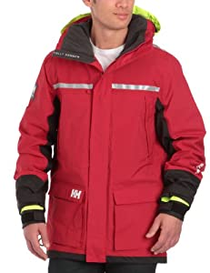 Helly Hansen Men's Crew Coastal Sailing Jacket - Red, Small (Old Version)