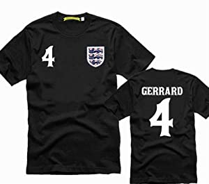 The Brazilian World Cup England National Team No.4 Steven Gerrard T shirt asian adult size
