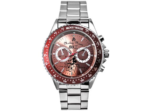 Disney Disney Mickey's birthday 80th anniversary Memorial rotating bezel Watch Red