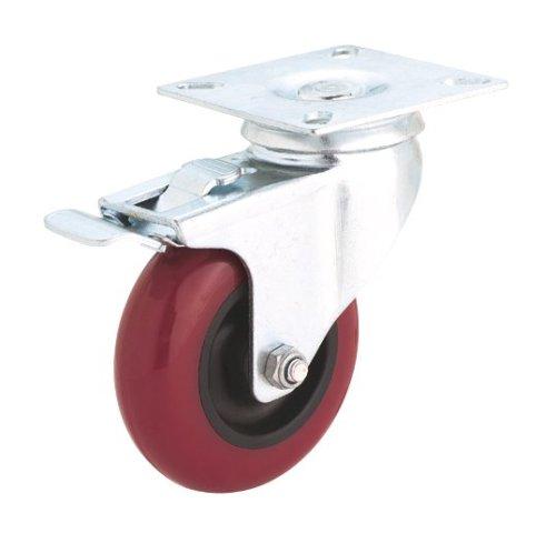 Steelex D2612 5-Inch 300-Pound Swivel Double Lock Polyurethane Plate CasterB0000DD1EJ : image