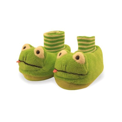Frog Toddler Sock Top Bootie Green Slippers - Sz 9/10