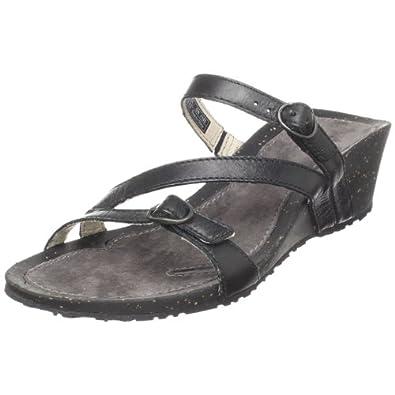 Amazon Com Teva Women S Ventura Wedge Modoc Sandal Black