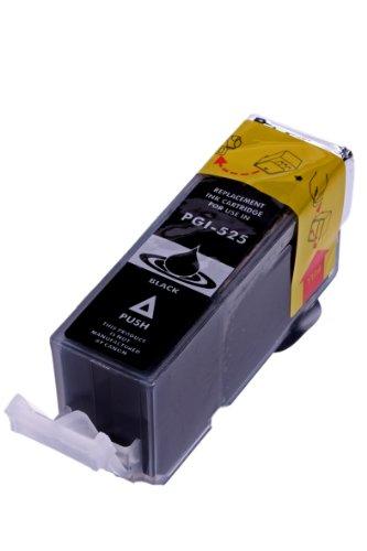 Merotoner® - Tintenpatrone für Canon PGI 525 , PGI525 mit Chip Canon Pixma kompatibel (Black/Schwarz)