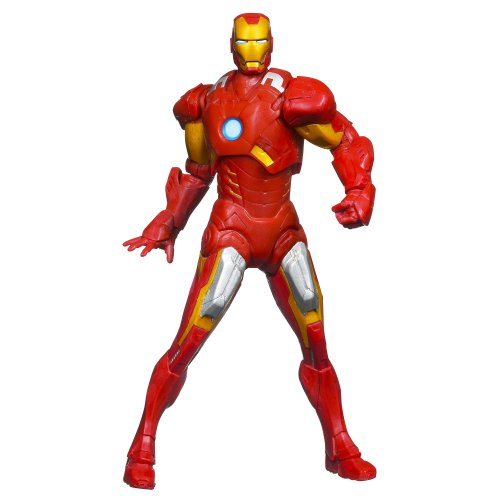 Marvel The Avengers Mighty Battlers Repulsor Battling Iron Man Figure - 1
