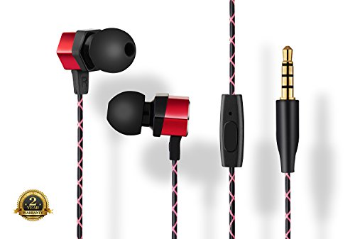 SOWND Audio Premium Octagonal Bass Boosted Earbuds in Red Model A112R (Xperia X10 Mini Case compare prices)