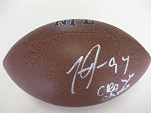 Tyson Jackson, Atlanta Falcons, Kansas City Chiefs, Lsu Tigers, Signed, Autographed,... by Wilson
