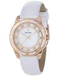 Bulova Women's 98P119 Enamel Inlayed Case Watch