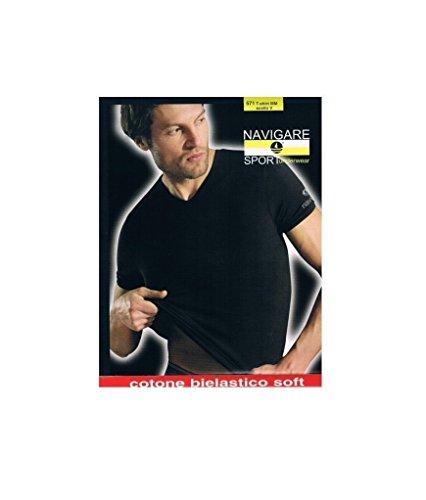 3 Maglie Navigare Cotone elasticizzato art.571 3/S Colore nero