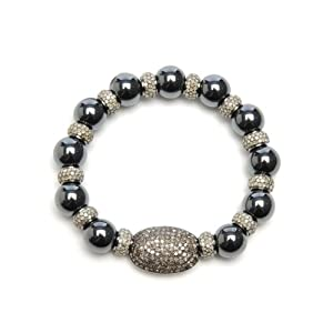 Sterling Silver 8.13ct Diamond Cord Bracelet Fashion Jewelry