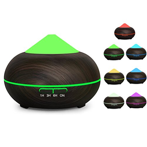 Aromatherapy Essential Oil Diffuser,Werleo 300ml Wood Grain Ultrasonic Cool Mist Whisper Quiet Aroma Air Humidifier 7 Color LED Light Changing 4 Timer Setting Waterless Auto Shut-Off for Spa Baby Home (Baby Vapor Inhaler compare prices)