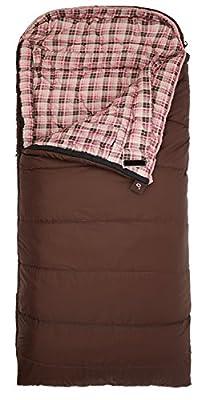 "TETON Sports Celsius Regular -18 Degree C / 0 Degree F Flannel Lined Sleeping Bag (80""x 33"")"