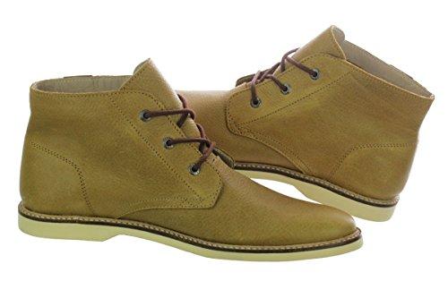 b4858129b lacoste sherbrooke hi 6 light khaki leather chukka boots (11)