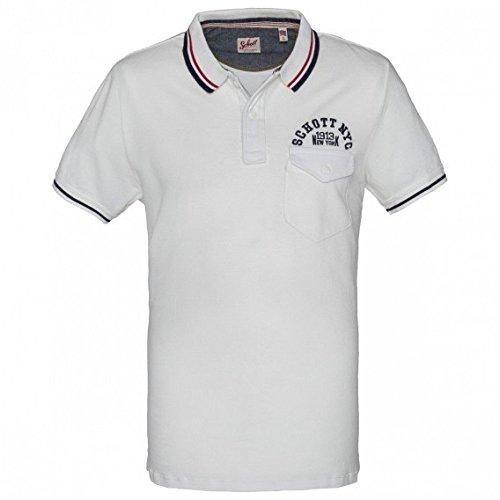 Schott NYC -  Polo  - Uomo bianco X-Large