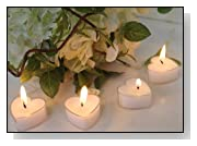 White Wedding Heart Shaped Candle Favors