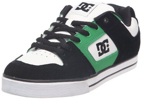 DC Shoes Men's Pure Slim White/Black/Green Fashion Trainer D0301970 9 UK, 43 EU, 10 US
