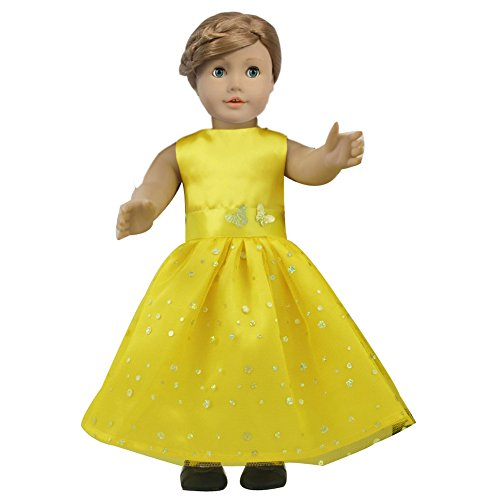 Ebuddy ® Yellow Butterfly Doll Dresses Fits 18 Inch Doll