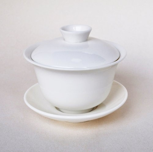Traditional White Ceramic Gaiwan (Tea Brewing) by Canton Tea Co. (Canton Tea Co compare prices)