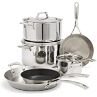 Sur La Table Tri-Ply Stainless Steel 9-Piece Set