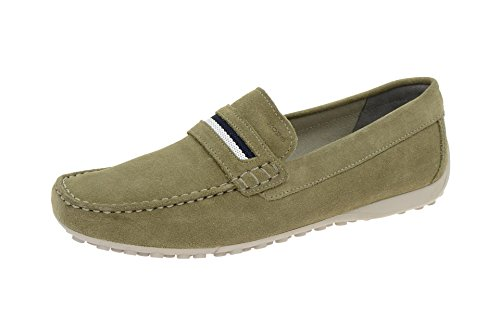 Geox Snake Mokassin Schuhe grün sage Slipper U5207A Grün, EU 45