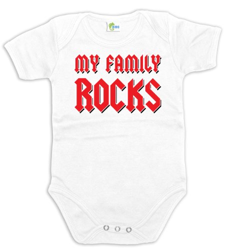 Chameleon KIDS My Family Rocks 29528 Baby Bodysuit
