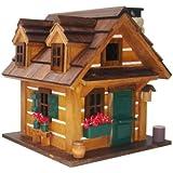 Home Bazaar Rustic Retreat Birdhouse, Brown/Green