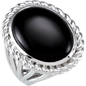 Genuine IceCarats Designer Jewelry Gift Sterling Silver Genuine Onyx Ring. Genuine Onyx Ring In Sterling Silver Size 7