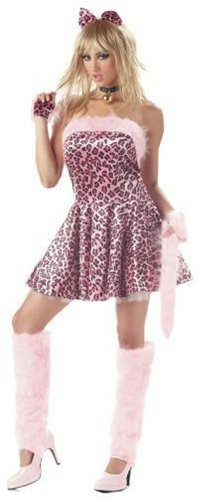 Pink Leopard Purrty Kitty Cat Adult Halloween Costume