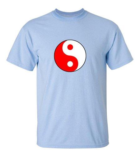 Yin Yang Meditation Yoga T-Shirt-Fblue-3Xl