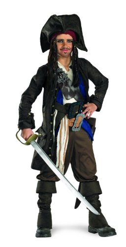 Captain Jack Sparrow Prestige Premium Child Costume Halloween