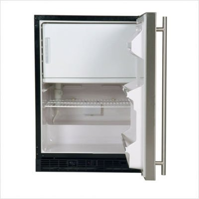 Combination Ice Maker, Refrigerator, Freezer Color: Black, Hinge: Left