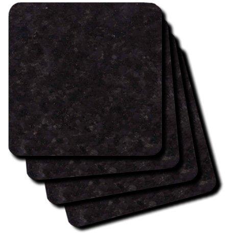 3dRose cst_97940_3 Black Pearl Granite-Ceramic Tile Coasters, Set of 4
