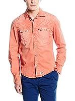 Pepe Jeans London Camisa Hombre Glanser (Naranja Claro)