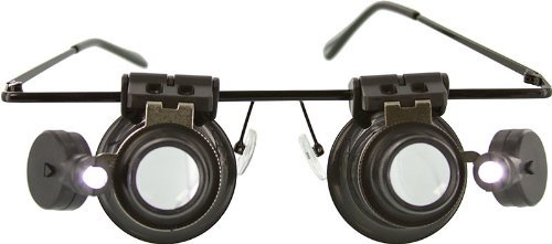 SE 2 20x Loupe on Glasses Frame, 1 LED on Loupe, Blk Color