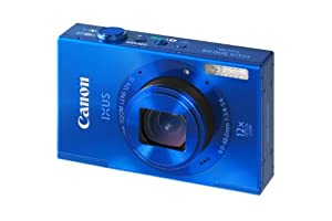 Canon IXUS 500 HS Digital Camera - Blue (10.1MP, 12x Optical Zoom) 3.0 inch LCD