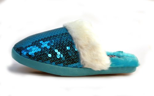 Cheap Luckers Women's Blue Sequin Slippers (B008NDFT0C)