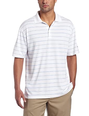 Nike Golf Mens Tech Core Stripe Polo-Large-White Black by Nike