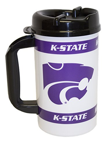 Ncaa Officially Licensed 32 Oz. Mega Mug Cup With Straw (Kansas State Wildcats)