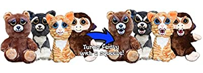 William Mark Feisty Pets Grandmaster Funk Adorable Plush Stuffed Monkey that Turns Feisty with a Squeeze from William Mark