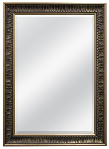 MCS 24 by 36-Inch Beveled Mirror, 32 by 44-Inch, Ornate Finish, Bronze