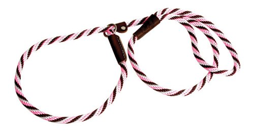 Mendota Products Small Dog Slip Lead, Pink Chocolate, 3/8-Inch X 6-Feet