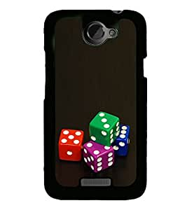 Colourful Dice 2D Hard Polycarbonate Designer Back Case Cover for HTC One X :: HTC One X+ :: HTC One X Plus :: HTC One XT