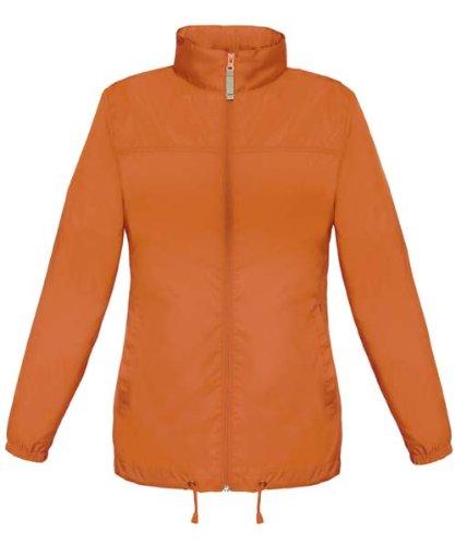 B c veste coupe vent imperm able femme taille l orange sirocco ladies - Veste coupe vent impermeable femme ...
